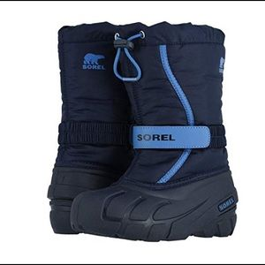 Sorel Kids Collegiate Navy Flurry Nylon Boots 4
